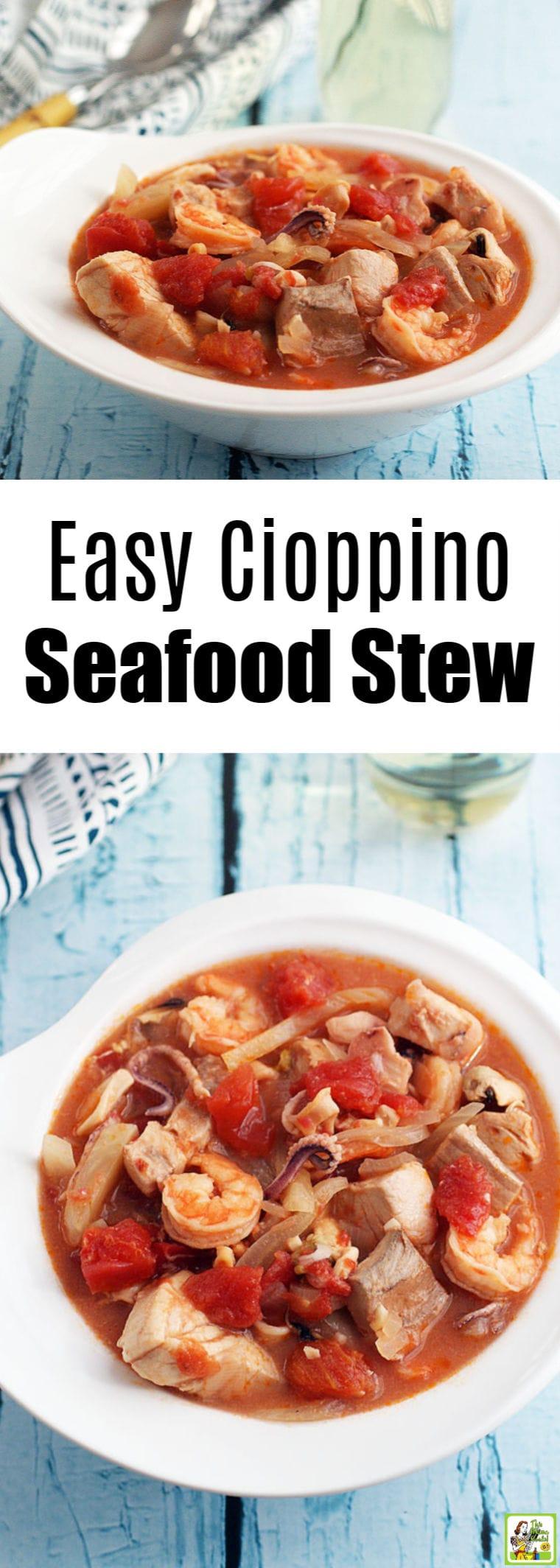 Easy Cioppino Seafood Stew Recipe