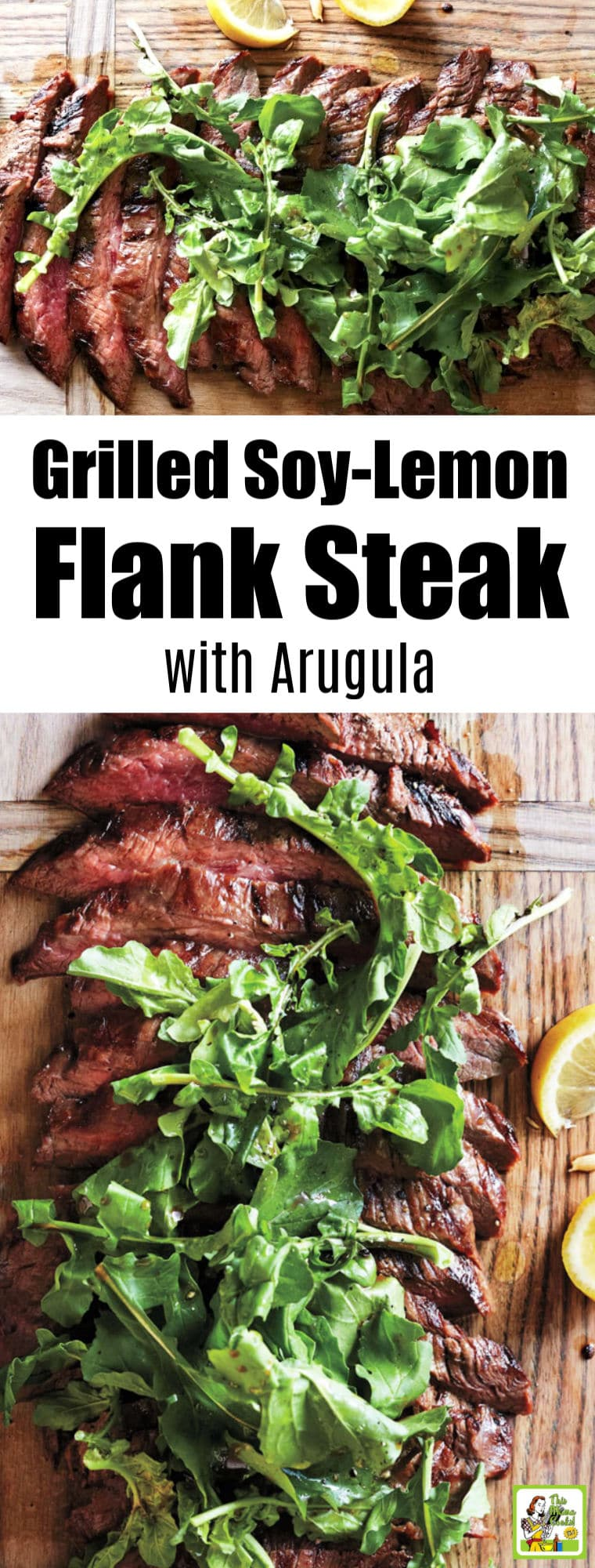 Grilled Soy-Lemon Flank Steak with Arugula Recipe