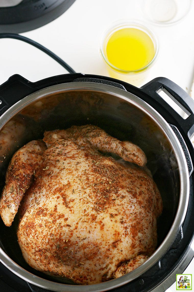 Roasting chicken in a pressure cooker