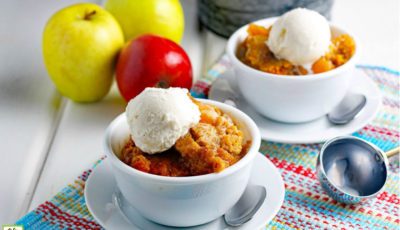 Crockpot Apple Cobbler Recipe.
