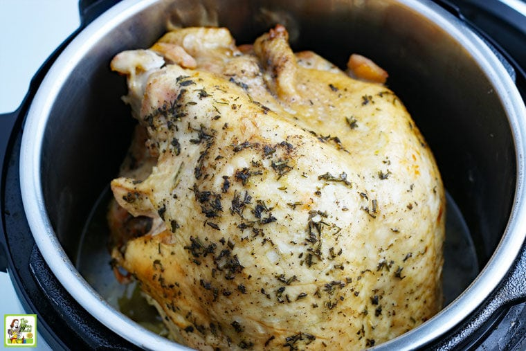Cooked Turkey Breast in an Instant Pot.