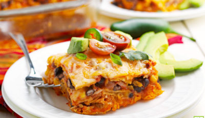 Chicken Enchilada Casserole.