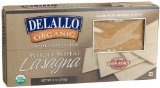 Delallo organic oven ready whole wheat lasagna