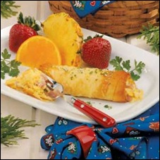 Ham and Cheese strudel light