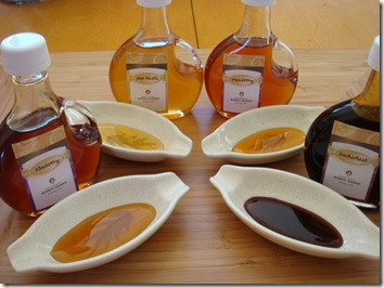 honey varietals sampling flight