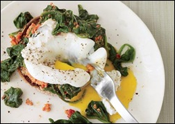 flat belly diet eggs florentine