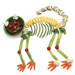 black bean cat crudites halloween recipe