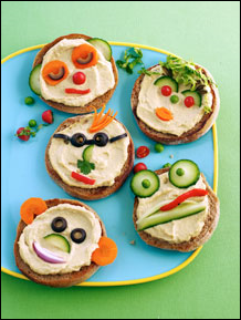 hummus heads from Weight Watchers Eat Move Play