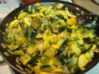 sauteed vegetables herbs